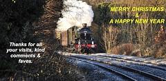 Merry Christmas December 2018 (loose_grip_99) Tags: enderby leicestershire eastmidlands england uk railway railroad rail train steam engine locomotive mainline greatwestern gwr xmas greetings castle 460 5043 earlofmountedgcombe preservation gassteam uksteam trains railways december 2017 christmas merry