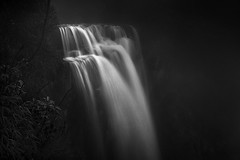 an intimate view .. (tchakladerphotography) Tags: blackwhite bw nature waterfall water longexposure forest steep monsoon india atmosphere