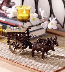 Gorgeous Village Bullock Cart With Antique Finishing (mywowstuff) Tags: gifts gadgets cool family friends funny shopping men women kids home