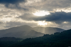Through the clouds (Rico the noob) Tags: 2018 d850 lakedistrict 2470mm sunset nature outlook mountains outdoor hills 2470mmf28 clouds trees tree travel forest published sky dof sun landscape uk mountain