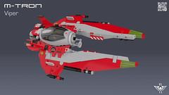 M-Tron Viper (CK-MCMLXXXI) Tags: lego moc mtron viper space classic interceptor starfighter