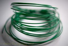 Wire Me Some Green (HMM) (13skies) Tags: green wire greenwire theme macromondays macroscopic macro monday light windowlight close circles around circular hmm happymacromondays sonyalpha100 a100 time ready thin whitebackground