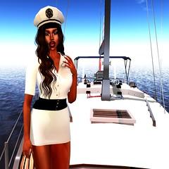 Thank you for your service. (parisevermore) Tags: marquesse doux slackgirl bandit fashion hat hair boat virtualfashion sl slink belleze maitreya secondlife dresses beautiful mini officer