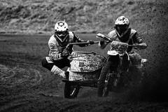 Sidecar Cross (U-77) Tags: bw zw noiretblanc blackandwhite oldebroek motocross motogp sidecar sport zijspan zwartwit austria vroom canon70200f28lnonis cross motor sports
