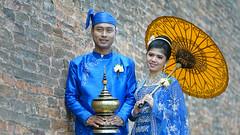 DSC09632 (marekfiser@gmail.com) Tags: burma myanmar portrait asia wedding voigtlander macro lanthar apo blue yellow royalpalace mandalay