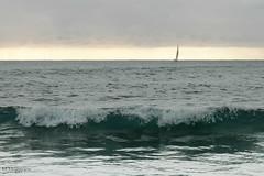 seul (Mireille Muggianu) Tags: bouchesdurhone europe france laciotat provencealpescotedazur bateau boat mer paysage vague voilier wave samsung nx nx500