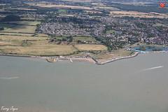 Beach Huts & Batemans (Essex Explorer) Tags: aerial img9453 beachhuts batemans tower brightlingsea essex