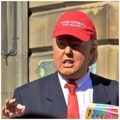 Make America Gay Again (FotoFling Scotland) Tags: cap edinburgh faketv makeamericagayagain streetphotography trump