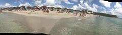 Son Bou Panoramic from the sea. (Steve Dawson.) Tags: sonbou beach sea waves menorca balearicislands spain spanish holiday apple iphone 7 mobile 13th september 2018