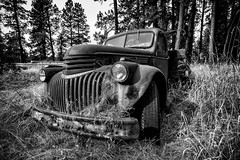Chevrolet AK Series Truck II B+W (PNW-Photography) Tags: chevy chevrolet auto automobile car transportation truck vintage classic rusty dusty old rust dust abandoned palouse whitmancounty whitman washington