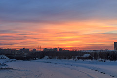 Winter evening skyline in Kemerovo city (man_from_siberia) Tags: kemerovo city sky skyline evening winter january 2019 siberia canon eos 200d dslr canoneos200d canon200d canonrebelsl2 canonef40mmf28stm pancakelens russia россия сибирь кемерово