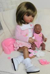MelaniePlaysBabyBorn (mikki_ireland) Tags: iplehouse bjd doll elin light brown playing baby born