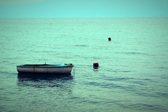 Colored Life : Blue Symphony (Storyteller.....) Tags: colors colored life sea blue boat sky symphony