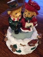 Season's Greetings (Mr. Happy Face - Peace :)) Tags: art2018 bears ice skating season winter collectible two love beary christmas bear red