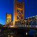 The Tower Bridge Sacramento river, USA - San Francisco Oakland Bay Bridge, USA - Original image from Carol M. Highsmith's America, Library of Congress collection. Digitally enhanced by rawpixel