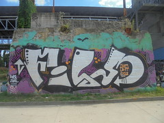 112 (en-ri) Tags: film robe zela 2018 bianco nero viola arrow dias uht torino wall muro graffiti writing parco dora