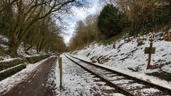 Twenty Ahead (AreKev) Tags: twentyahead twentysign twenty sign snow winter bristolbathrailwaypath railwaypath heritagerailway avonvalleyrailway avonvalleyrailwaycompanyltd avonvalley midlandrailway mangotsfieldbath branchline railway bitton southgloucestershire southwestengland england uk aurorahdr2018 hdr aurorahdr nikond850 nikon d850 sigma1424mmf28dghsmart sigma 1424mm 1424mmf28dghsm