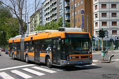 ATM Milano 303 (pretsend (jpretel)) Tags: atm milano trolleybus filosnodati bus autodromo cam busotto kiepe skoda man 300 307