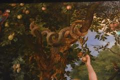 Den Haag, Zuid-Holland, Mauritshuis, temptation in the garden of Eden / Breughel & Rubens, detail (groenling) Tags: denhaag sgravenhage zuidholland holland mauritshuis netherlands nederland nl museum breughel rubens eden garden hof adam eve eva temptation zondeval fall verleiding snake slang serpent apple appel paint painting schilderij