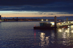 Lights on the Mersey at Liverpool (Tony Worrall) Tags: liverpool merseyside scouse wet water mersey river sun sunset shine gold golden settingsun sunlit late dusk night evening sky glow glowing hue beauty nature outside outdoors glowingsun weather city welovethenorth nw northwest north update place location uk england visit area attraction open stream tour country item greatbritain britain english british gb capture buy stock sell sale caught photo shoot shot picture captured ilobsterit instragram