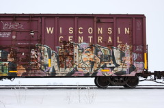 Wyse (quiet-silence) Tags: graffiti graff freight fr8 train railroad railcar art wyse d30 dirty30 a2m boxcar wc wisconsincentral wc27802