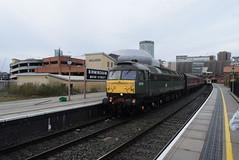 BR 47773/D1755 @ Birmingham Moor Street station (ianjpoole) Tags: british railways class 47 duff spoon 47773 d1755 the queen mother working 1z10 polar express from birmingham moor street tyseley warwick road