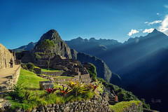 2018 First visitor in Machu Picchu (jeho75) Tags: sony ilce 7m2 zeiss peru south america südamerika anden machu picchu morning light morgenlicht archäologie archeology inka