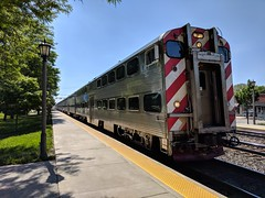 Metra Fly By (Pilot MKN) Tags: metra chicago illinois lagrange commuter day train railroad station