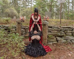 Sacrifice (Call of The Wild Photography) Tags: witchcraft rhodeisland nipples woman female sacrifice knife graveyard cemetery creepy breasts topless boobs gothic