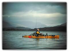 Loch lomond kayak fishing (Nicolas Valentin) Tags: loch lochlomond lomond scotland kayak kayakfishing fishing scenery landscape ecosse orange clouds mountains hobby sport angling