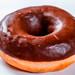 A fresh chocolate donut