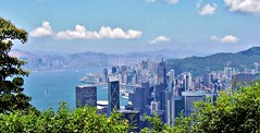 The Peak View, Hong Kong (Snuffy) Tags: hongkong peakview central wanchai victoriapeak victoriaharbour