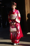 Coming-of-age Day, Tokyo, Japan 成人の日 (runslikethewind83) Tags: pentax woman lady japanese japan asia comingofage kimono dress red beauty 着物 成人の日