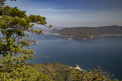 View from Mount Misen on the Japanese Inland Sea (2) (fnks) Tags: asia japan tokyo hiroshima miyajima island sea trees ropeway shrines buddhism temples ferry sky deer beach tides tanterns water sunshine mountains
