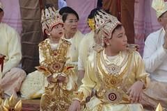 Ordination ceremony for novice Buddhist monks, Shwedagon Pagoda, Yangon (18) (Prof. Mortel) Tags: myanmar burma yangon rangoon buddhist pagoda shwedagon monks