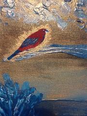 Mythical bird art (Neil Gaffney) Tags: gold pier wigan wiganpier springfield gidlow birch birds bird art neilgaffney gaffney neil painting acrylic