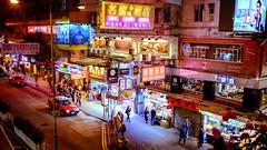Lockhart Road at Night (Joachim Wuhrer) Tags: joachimwuhrer hongkong holiday nightphotography noir neon night fuji x100s asia