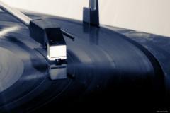 Microsillon (Le dahu) Tags: disque vinyle play lecture musique music old vintage reflection dark monochrome noiretblanc blackandwhite d610 darktable nikon tamron 90mm macro macrophotographie macrophotography