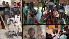 Garçons et filles d'Afrique (Thierry LARERE) Tags: portrait scènedevie garçon fille enfant afrique afriquesubsaharienne tresse faitout photomontage mosaïque
