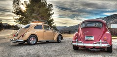 Brayden and Chad (SpeDesert) Tags: spebak canon canondslr canon70d vw volkswagen bug classic classiccar clouds sunrise