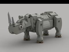 African White Rhinoceros (demitriusgaouette9991) Tags: lego ldd bull whitebackground animal mammal african rhino safari horns powerful