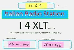 XLT QSL (Sauro Imola) Tags: hamradio qsl qslcard i4xlt un6g