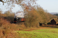 Witley, Godalming UK  |  2018 (keithwilde152) Tags: br black5 44871 cathedrals express witley godalming uk landscape countryside farmland passenger train excursion steam locomotives outdoor winter sun