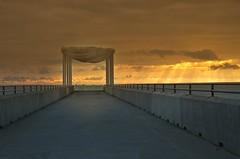 Napier Sunrise (dave.fergy) Tags: dawn sunrise goldenhour pier statue overcast fingers god architecture beach bridge clouds coast fingersofgod landscape sculpture transport water on1pics