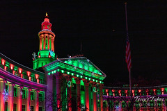 December 23, 2018 - The Denver City and County in holiday colors. (Tony's Takes)