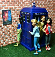 New arrivals (saratiz) Tags: tardis disney princess cinderella snowhite rapunzel mulan dolls ariel belle tiana merida vaiana wall ralph