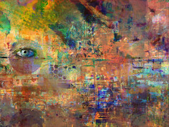 information overload... (Mark Noack) Tags: light color photoshop layer layering surreal expressionism abstract psychedelic futurist abstraction shockofthenew awardtree