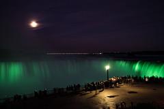 Night Show (feigau99) Tags: niagarafalls niagara ontario canada toronto green waterfall moon night touristattractions sony a7rii fe1635f4 wideangle longexposure fullframe