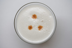 Bird's Eye View of a Whiskey Sour (the_real_dorito) Tags: whiskeysour whiskey sour eggfoam cocktail