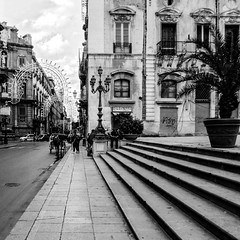 Palermo streetscape (max tuguese) Tags: black white bw bianco nero noir blanc noiretblanc blanco negro schwarz weis monochrome maxtuguese street photographer life lifestyle flickr outdoor outside dark building canon window streetlife cityscape stairs stairway treppe stphotographia mood
